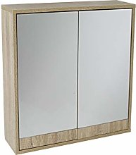 House & Homestyle Double Mirrored Door Cabinet,