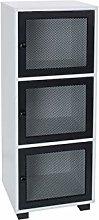 House & Homestyle Storage Cabinet, Black, 3 Door