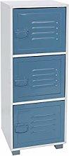 House & Homestyle Storage Cabinet, Blue, 3 Door