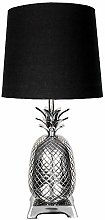 House & Homestyle Table Lamp, Nickel, Silver