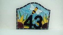 House Number Plaque Plate Door Sign Bumblebee Bee