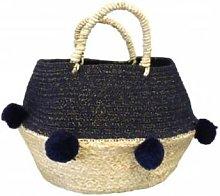 House of disaster - Navy Pom Pom Rope Basket -