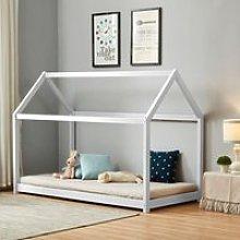 House White Wooden Bed Frame - 3ft Single