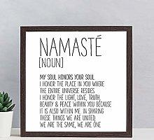 House Wood Framed Sign Namaste Sign Definition