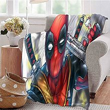 HouseDecor Custom Photo Blanket Deadpool Sofa