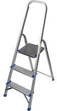 Household 3 Step Foldable Aluminium Ladder Safety