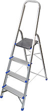 Household 4 Step Foldable Aluminium Ladder Safety