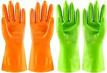Household Cleaning Gloves,2 Pairs Reusable Kitchen