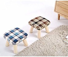 Household Simplicity Solid Wood Fabric Coffee