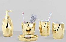 Household Soap Dispenser Luxury Gold 5 Piece