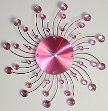 Houseware Online 44cm Pink Dial Diamante Beaded