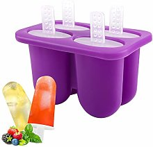 Housolution 4 Pieces BPA Free Ice Lolly Moulds,