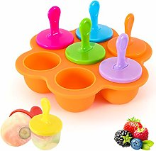 Housolution Silicone Ice Lolly Moulds, 7 Pieces
