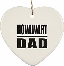 Hovawart Dad - Heart Ornament Christmas Tree