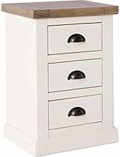 Hove Ivory Bedside Cabinet Table   Roseland