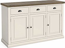 Hove Ivory Large Sideboard Storage Cabinet with 3