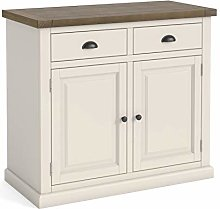 Hove Ivory Small Sideboard Storage Cabinet with 2