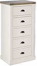 Hove Ivory Tallboy Chest of Drawers Bedroom