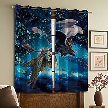 How to Train Your Dragon Decor Curtains,Living