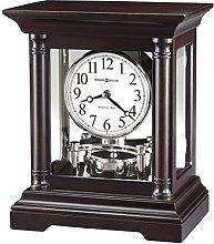 Howard Miller Mantle Clock, Wood, Black Coffee