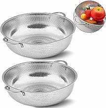 Hpamba Metal Colander Perforated Strainer for