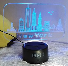 HPBN8 Ltd Creative 3D New York Night Light USB