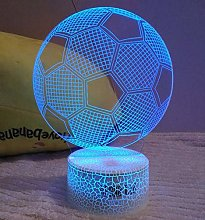 HPBN8 Ltd Optical Illusion 3D Football Night Light
