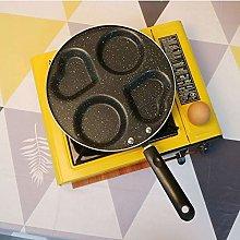 HQZMBDJ Aluminum 4-Cup Egg Frying Pan, Non Stick