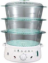 HRRH Food Steamer, 220V 900W 10.5L Large Capacity