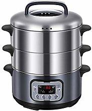 HSART 3 Tier Food Steamer, 12 Litre, 2 Separate