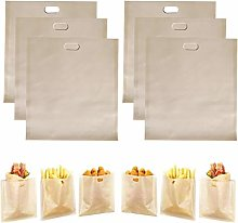 HSIULMY 6 Pack Toaster Bags Reusable, Premium