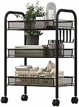 hsj Beauty Trolley Kitchen Shelf Household Floor