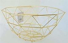 hsj Geometric Design Wire Fruit/Vegetable Basket