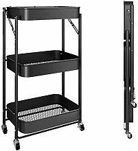 hsj Installation- free Foldable Cart Rack, Three-