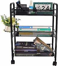 hsj Three- layer Floor-to- ceiling Trolley Rack