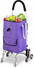 HSLINU Foldable Shopping Cart with Storage Bag