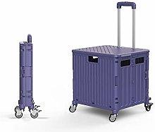 HSLINU Folding Shopping Cart with Dual Swivel