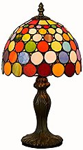 HSLY Tiffany Table Lamp Vintage Colourful Desk