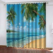 Hsvvsovs® Blackout Curtains 3D Printing Beautiful