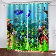 Hsvvsovs® Curtains Window Treatments Marine life