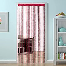 HSYLYM Spiral String Curtain Curly Polyester,Ideal