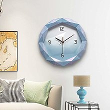 HtapsG Decorative clock # N/a (Color : Blue)