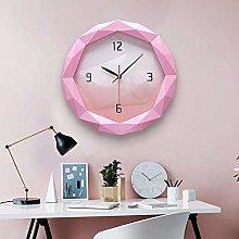 HtapsG Decorative clock # N/a (Color : Pink)