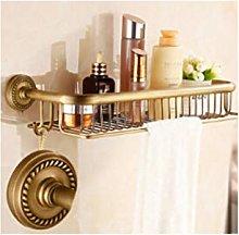 HTBYTXZ Antique copper bathroom shelf, bathroom