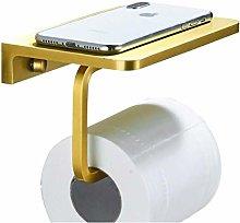 HTBYTXZ Bathroom paper holder with phone holder,