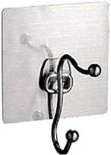 HTBYTXZ Double towel holder and adhesive Silver