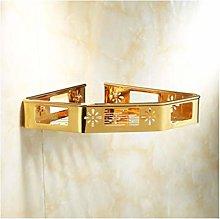 HTBYTXZ Golden bathroom shelf with hook wall