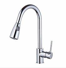 HTBYTXZ Kitchen faucet chrome sink faucet pull