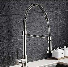HTBYTXZ Kitchen faucet nickel rotating kitchen