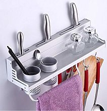 HTBYTXZ Kitchen rack wall mounted rack with 2 cups
